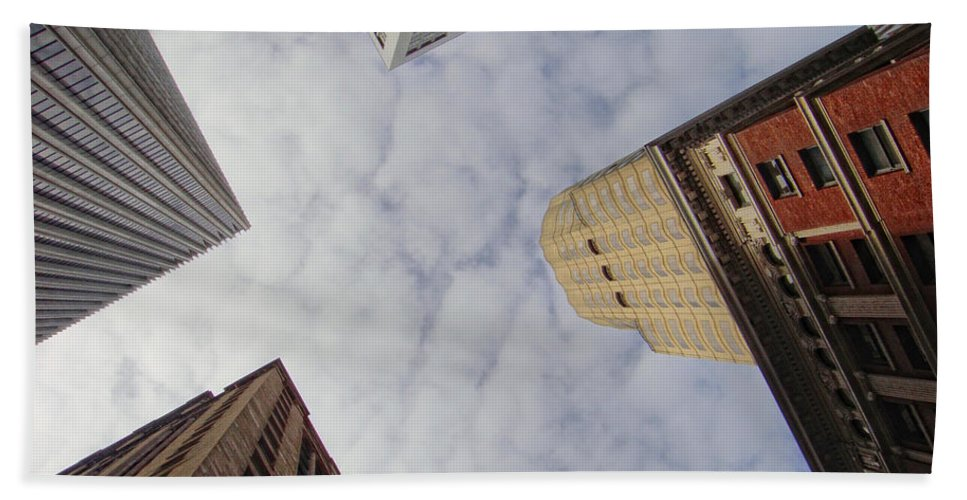 Skyscraper Hand Towel featuring the photograph Sky Scrapers by Donna Blackhall