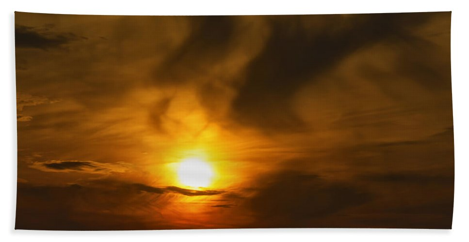 Abstract Bath Sheet featuring the photograph Sky by Svetlana Sewell