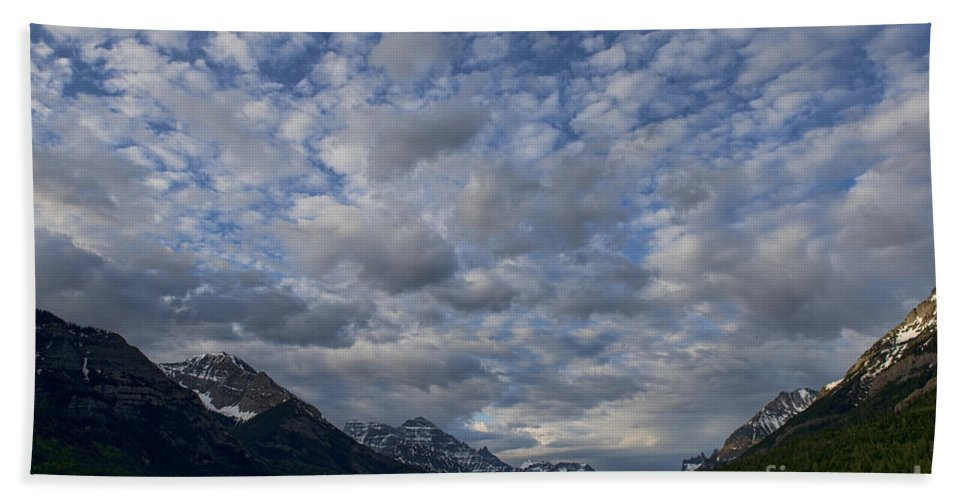 Mountains Bath Sheet featuring the photograph Sky Water Mountains by David Arment