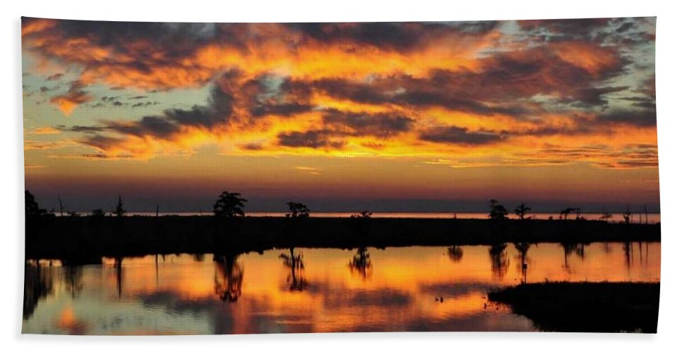Landscape Bath Sheet featuring the photograph Sky Writing by Charlotte Schafer