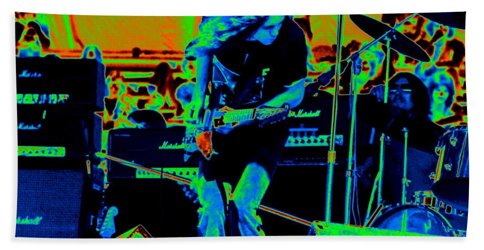 Lynyrd Skynyrd Bath Sheet featuring the photograph Skynyrd #6 Crop 2 In Cosmicolors by Ben Upham