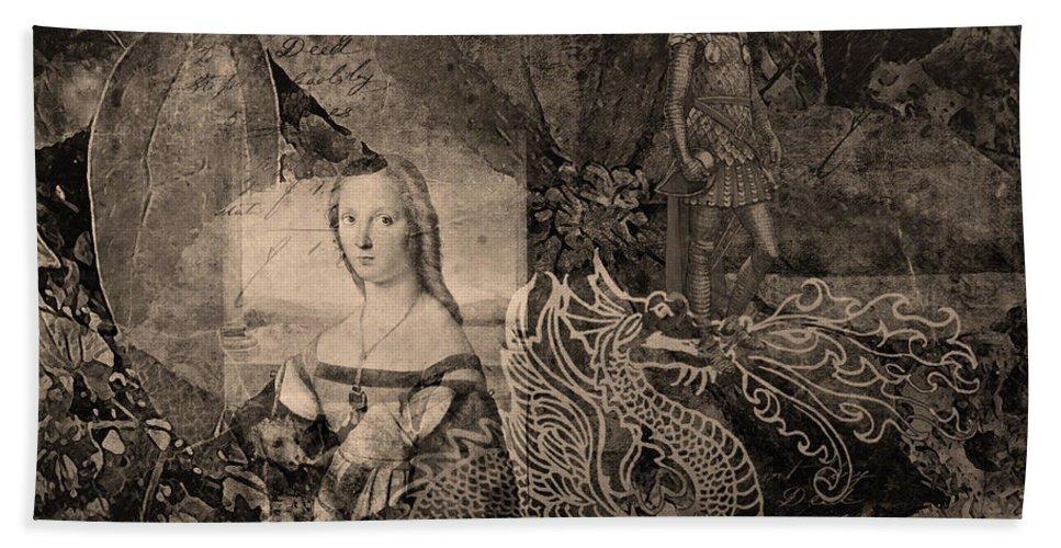 Fine Art Print Hand Towel featuring the digital art Slaying Dragons II by Patricia Griffin Brett