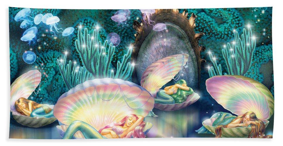 Sleeping Mermaids Bath Towel For Sale By Mgl Meiklejohn Graphics