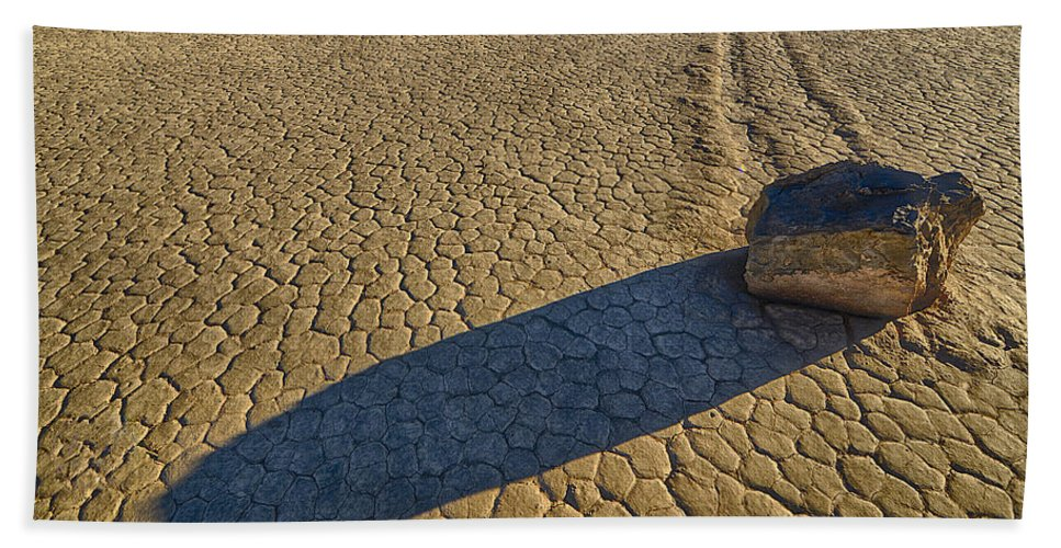 California Bath Sheet featuring the photograph Sliding Rock Of Racetrack Playa by Craig Voth