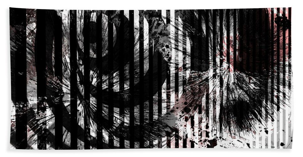 Abstract Art Bath Sheet featuring the photograph Slip Of The Night by The Artist Project