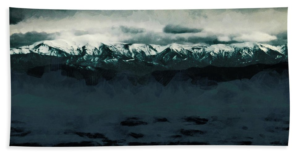Southern Alps Bath Sheet featuring the photograph Slippery Surface by Steve Taylor
