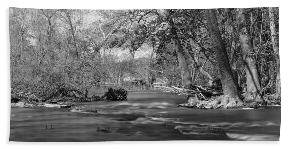 America Bath Sheet featuring the photograph Slow Down At The River by Jennifer White