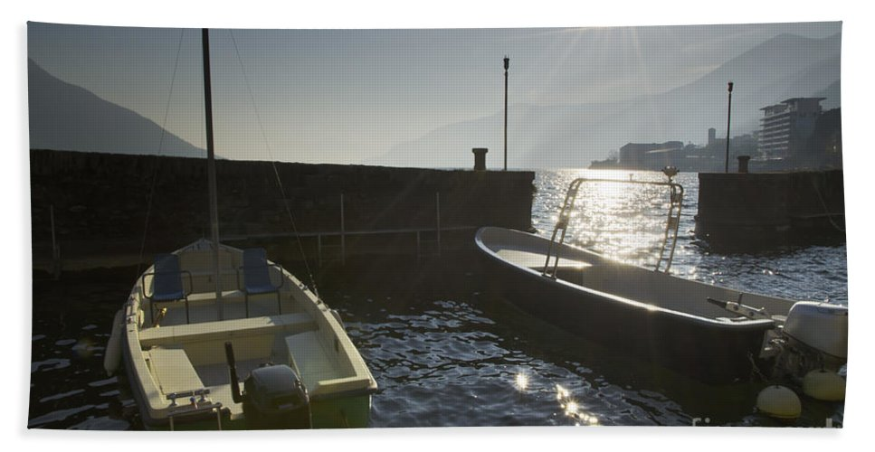 Port Bath Sheet featuring the photograph Small Port In Backlight by Mats Silvan
