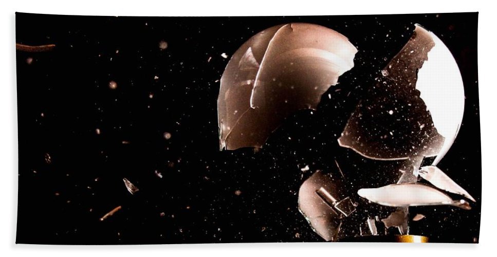 Light Bath Sheet featuring the photograph Smashed Bulb by FL collection