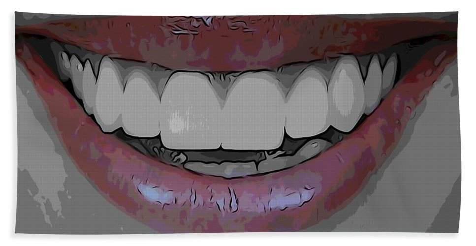 Smile Bath Sheet featuring the digital art Smile Poster by Dan Sproul
