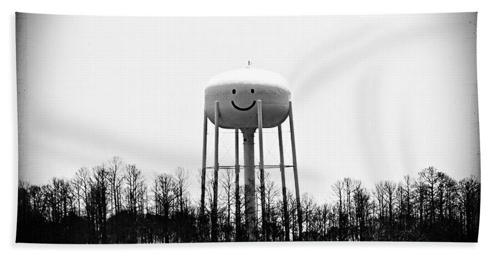 Bastrop Hand Towel featuring the photograph Smiley by Trish Mistric