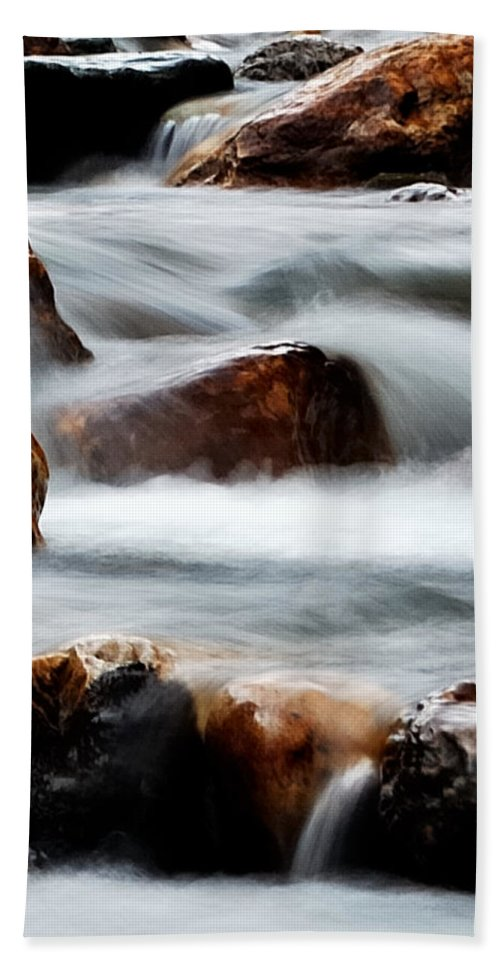 Waters Hand Towel featuring the photograph Smoke On The Water by Steven Milner