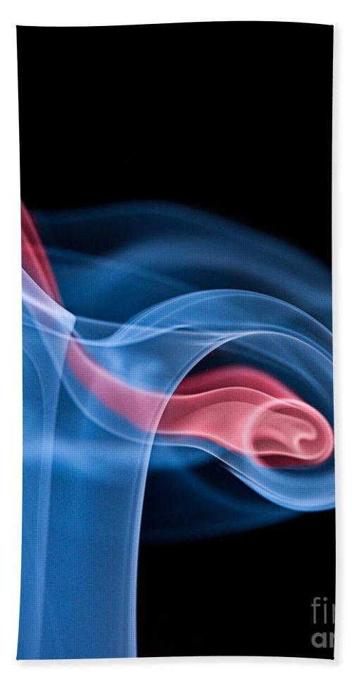 Smoke Bath Sheet featuring the photograph Smoke Trails by Susan Candelario