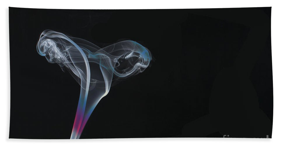 Smoking Trails Hand Towel featuring the photograph Smokey 13 by Steve Purnell