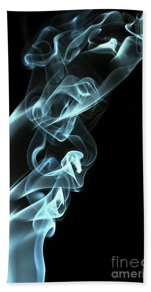 Smoking Trails Hand Towel featuring the photograph Smokey 8 by Steve Purnell