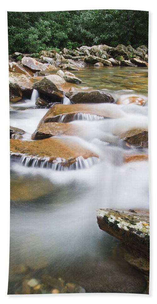 3scape Photos Hand Towel featuring the photograph Smokey Mountain Creek by Adam Romanowicz