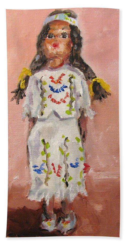 Indian Hand Towel featuring the painting Smokey Mountain Treasure by Susan Elizabeth Jones