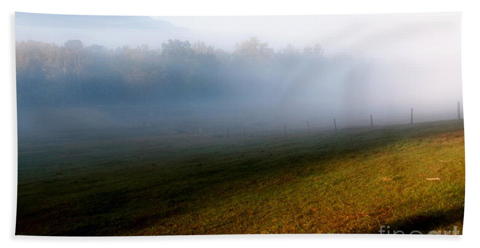 Fog Bath Sheet featuring the photograph Smoky Mountain Blush by Douglas Stucky