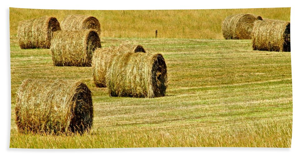 Landscape Bath Sheet featuring the photograph Smoky Mountain Hay by Frozen in Time Fine Art Photography