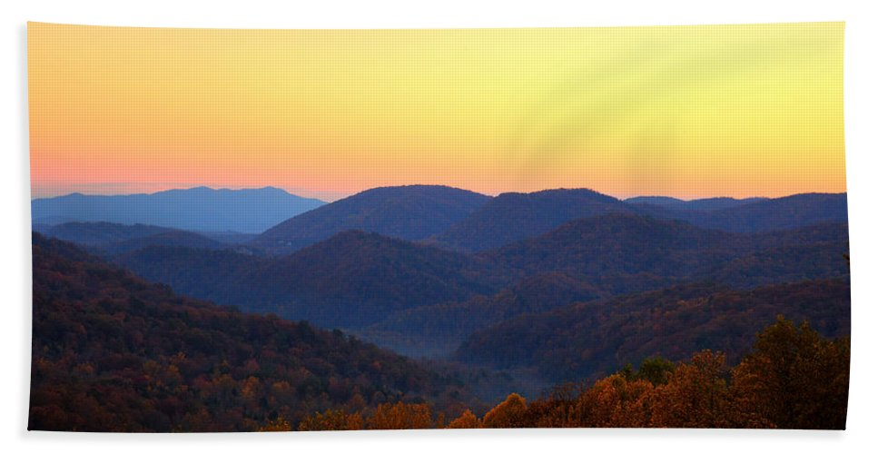 Mountains Bath Sheet featuring the photograph Smoky Mountain Sunrise by Amy Jackson