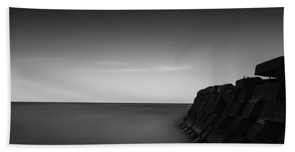 Www.cjschmit.com Hand Towel featuring the photograph Smooth As Grey by CJ Schmit