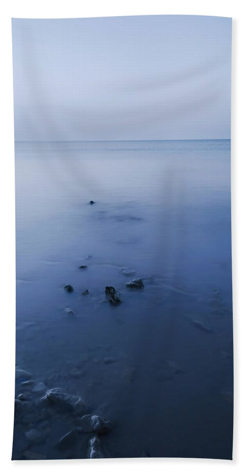 Bay Hand Towel featuring the photograph Smooth Sea by Svetlana Sewell