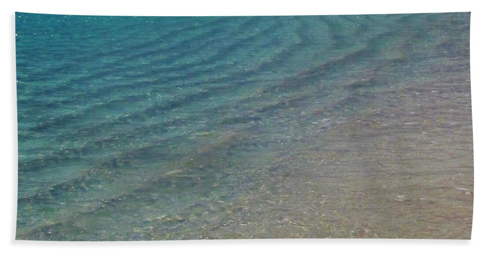 Keri West Hand Towel featuring the photograph Smooth Seas by Keri West