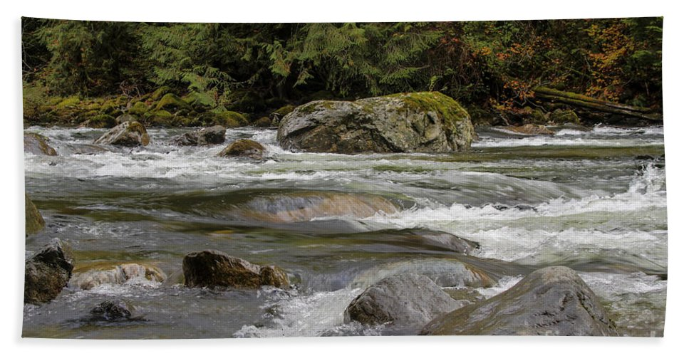 Landscape Bath Sheet featuring the photograph Snoqualmie Rapids Washington by Darleen Stry