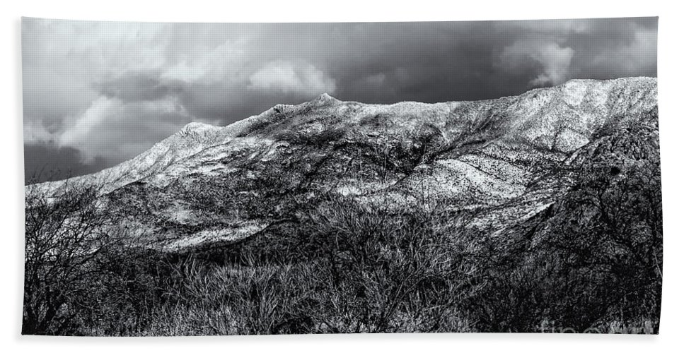 2010 Hand Towel featuring the photograph Snow Capped 45 by Mark Myhaver