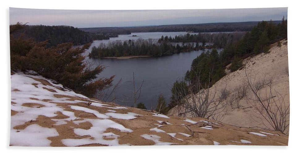 Snow Bath Sheet featuring the photograph Snow Dunes by Two Bridges North