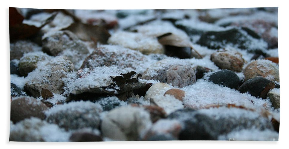 Outdoors Hand Towel featuring the photograph Snow Dusted by Susan Herber