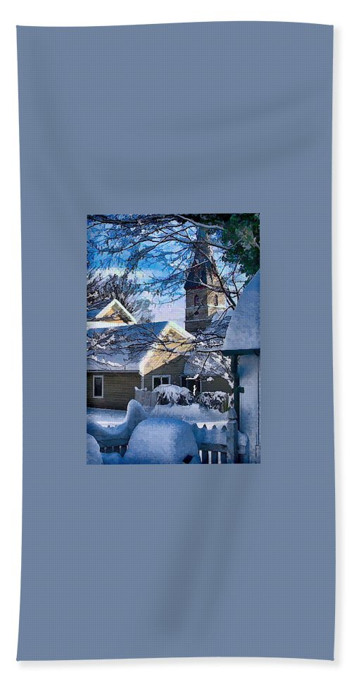 Julia Springer Hand Towel featuring the photograph Snow On Back Alley - Shepherdstown by Julia Springer