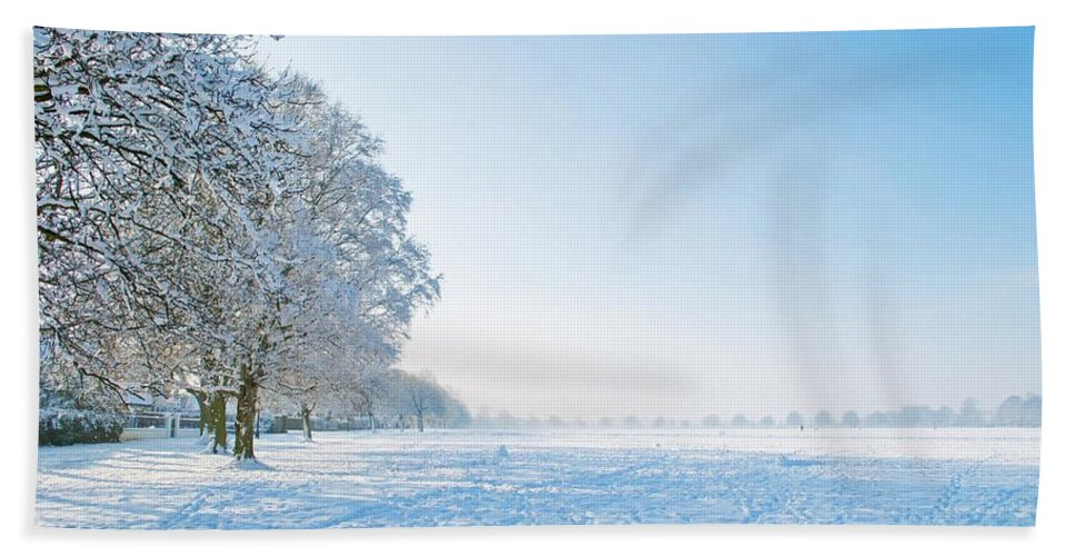 Clearing Bath Sheet featuring the photograph Winter Scene by FL collection