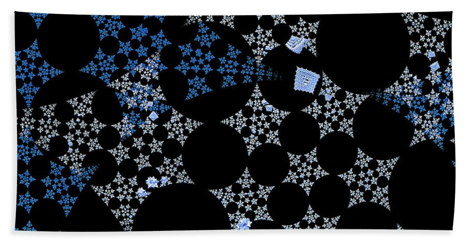 First Star Art Bath Sheet featuring the digital art Snowflakes By Jammer by First Star Art