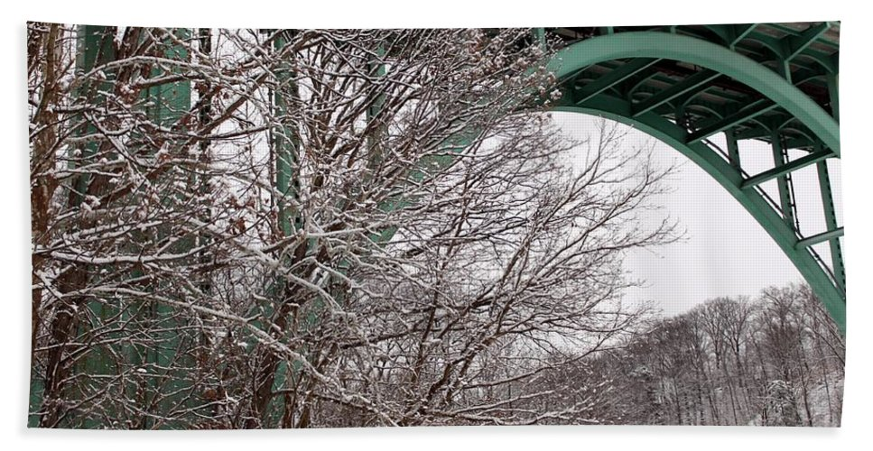 Winter Bath Sheet featuring the photograph Snowy Drive by Wendy Gertz