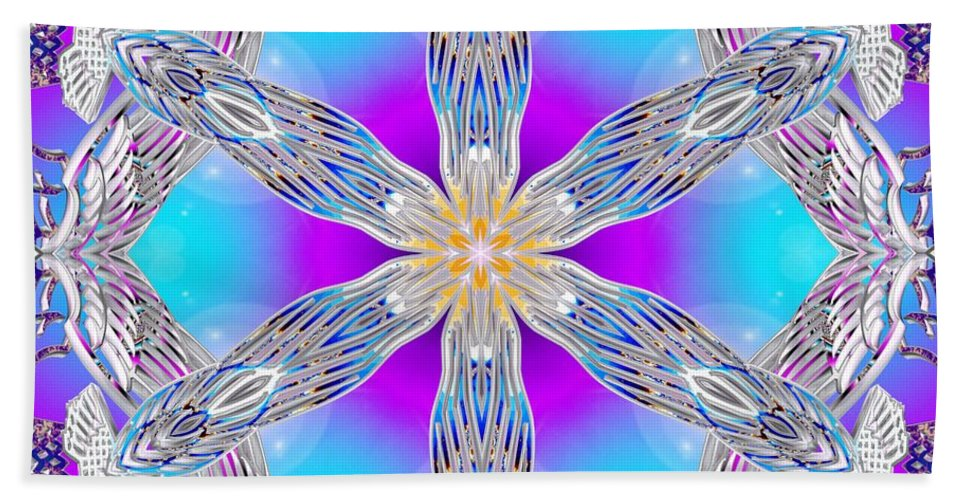 Sacredlife Mandalas Hand Towel featuring the digital art Soaring Flight by Derek Gedney