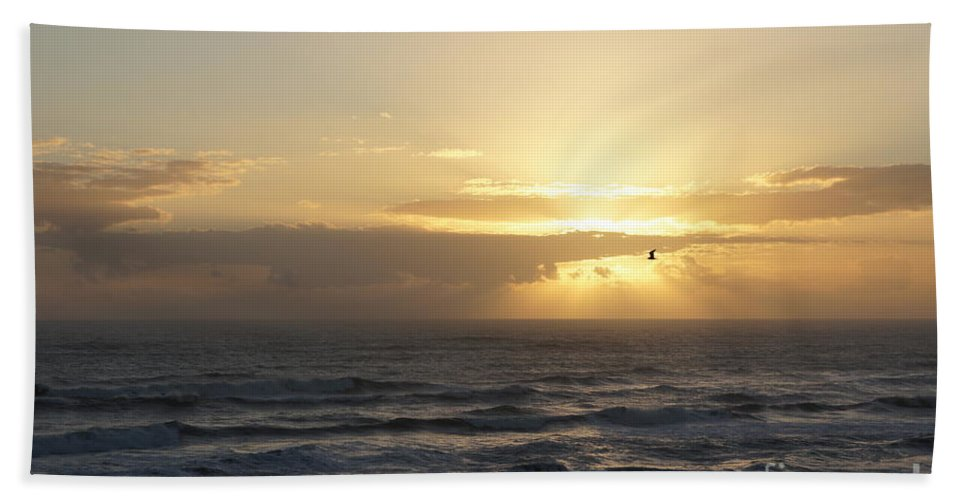 Sunrise Hand Towel featuring the photograph Soaring Sunrise by Megan Cohen