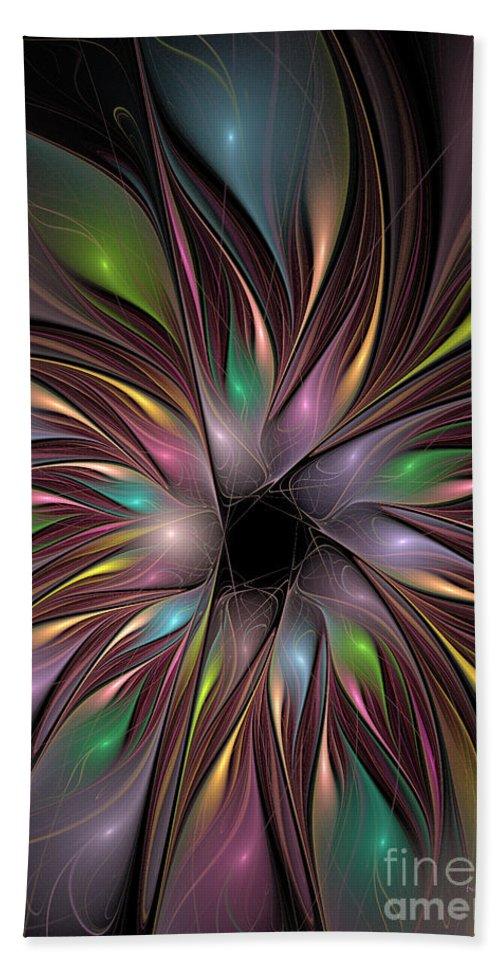 Fractal Bath Sheet featuring the digital art Soft Colors Of The Rainbow by Deborah Benoit