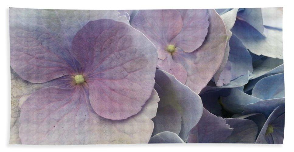 Hydrangea Bath Sheet featuring the photograph Soft Hydrangea by Caryl J Bohn