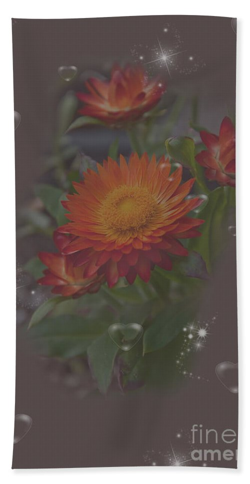 Flower Bath Sheet featuring the photograph Soft Pastel Abstract Strawflowers Art Prints by Valerie Garner