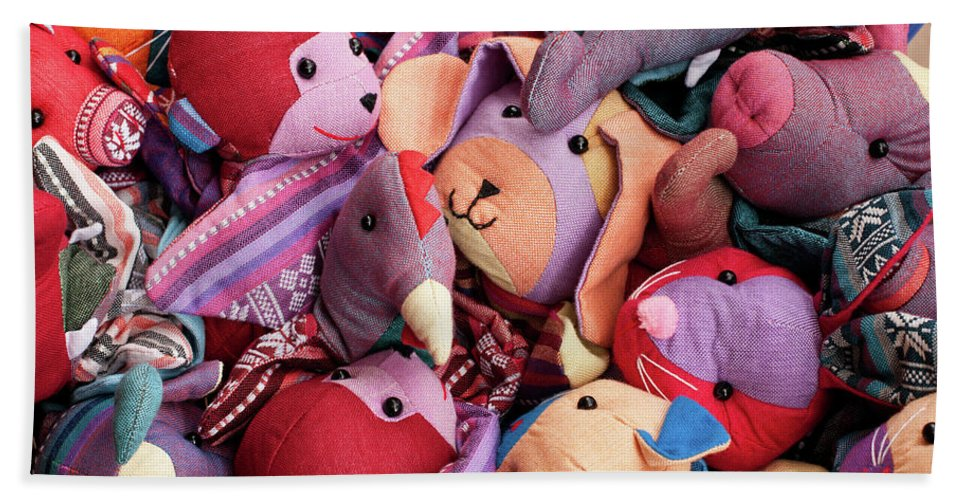 Pile Hand Towel featuring the photograph Soft Toys 02 by Rick Piper Photography
