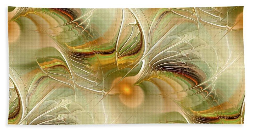 Malakhova Hand Towel featuring the digital art Soft Wings by Anastasiya Malakhova