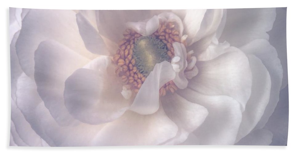 Ranunculus Hand Towel featuring the photograph Softly by Peggy Hughes