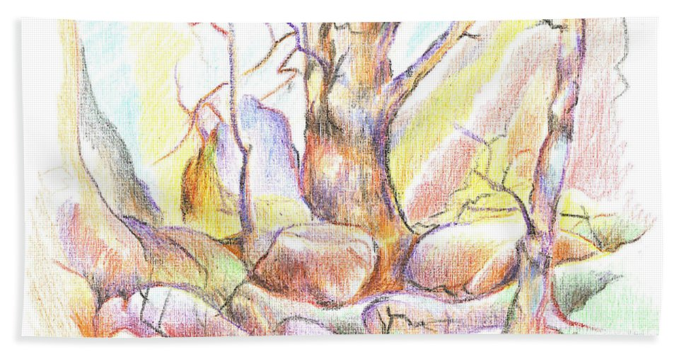 Softly Speaking Bath Towel featuring the painting Softly Speaking by Kip DeVore