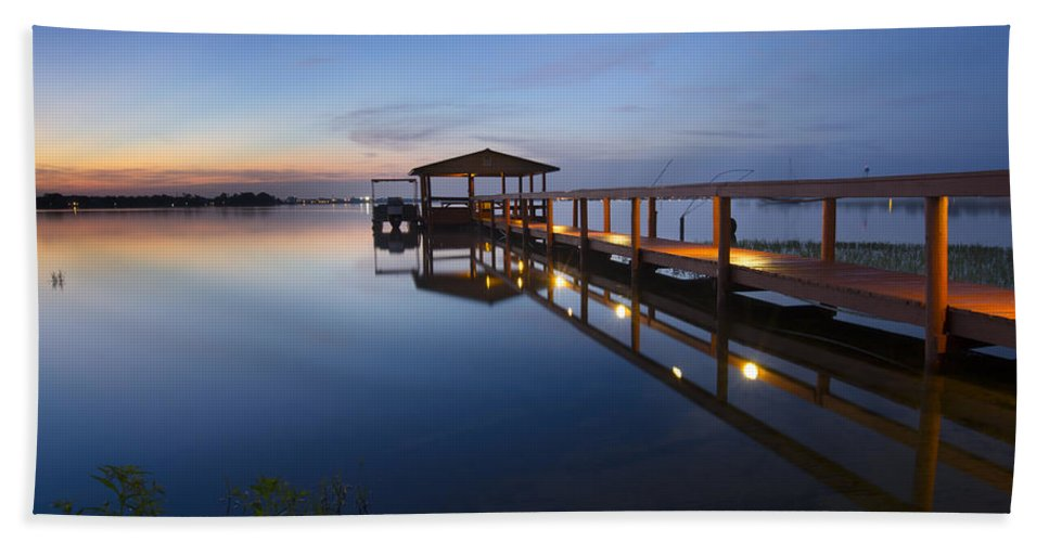 Boats Hand Towel featuring the photograph Softly The Morning Arrives by Debra and Dave Vanderlaan