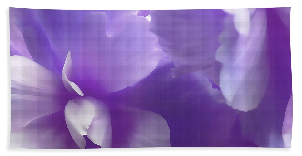 Begonia Hand Towel featuring the photograph Softness Of Purple Begonias by Jennie Marie Schell