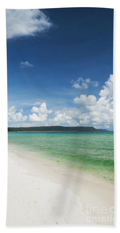 Asia Bath Sheet featuring the photograph Sok San Area Of Long Beach In Koh Rong Island Cambodia by Jacek Malipan