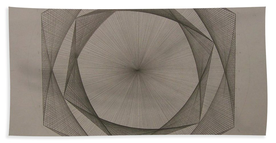 Fractal Bath Sheet featuring the drawing Solar Spiraling by Jason Padgett