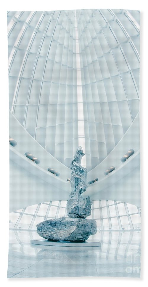 Milwaukee Art Museum Bath Sheet featuring the photograph Solitary by Claudia Kuhn
