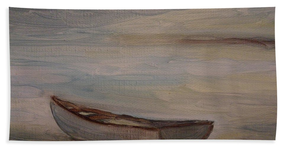 Boat Bath Sheet featuring the painting Solitude by Julie Brugh Riffey